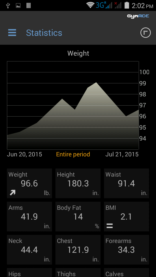 GymACE Pro: Workout Tracker & Body Log Screenshot 7