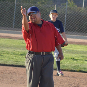 You are out of here... by Steve Keefe - People Portraits of Men ( umpire, baseball, unzipped )