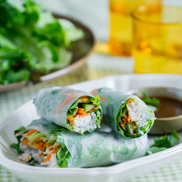 Chicken Breast Spring Rolls Recipe with Garlic Soy Dip Recipe | Yummly
