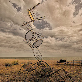 Chair Sculpture by Chaz Clark - Artistic Objects Furniture ( sculpture, chairs, beach, seascape, scenery, scenic, sea-views,  )