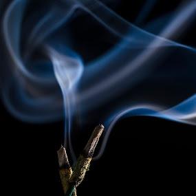 INCENSE SMOKE by Neelakantan Iyer - Abstract Fine Art