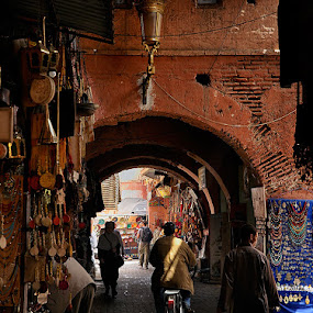 Street in Marrakech by Gabriel Catalin - Landscapes Travel ( Urban living, tokai art station )