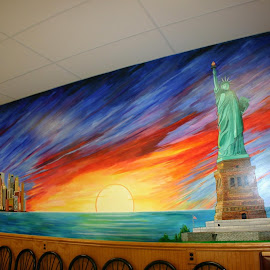 MURAL LIBERTY  by Douglas Edgeworth - Painting All Painting