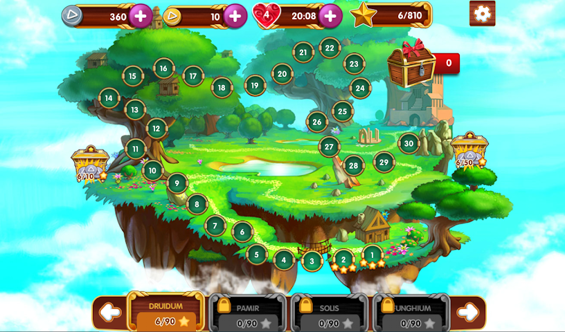 android Paradise Solitaire Screenshot 1