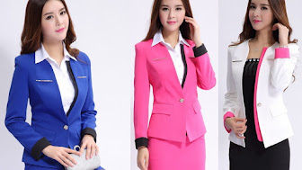 New-2015-Fall-Formal-Blue-Blazer-Women-Suits-with-Skirt-and-Jacket-Sets-Ladies-Beauty-Salon