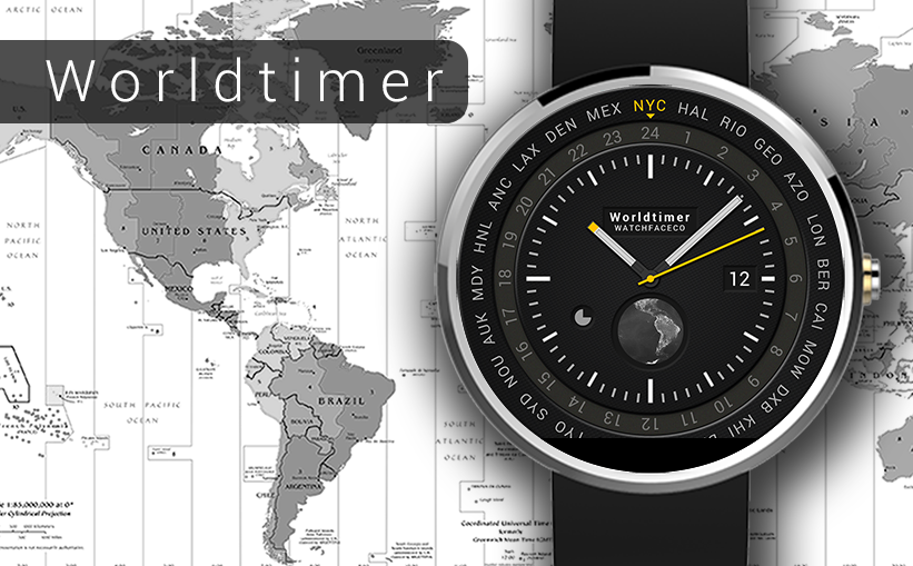 World Timer Watch Face Screenshot 7