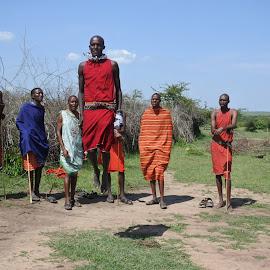 Tribal dance  by Cyndi Rosenthal - People Street & Candids ( jumping dance men tribal africa )