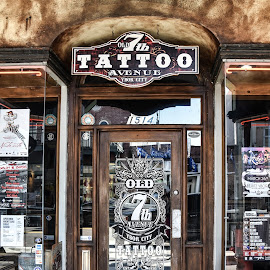 by Lisa Frisby - City,  Street & Park  Markets & Shops ( ybor city, florida, tattoo parlor, tattoo, ink )
