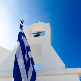 True Blue by Dan Herman - Buildings & Architecture Places of Worship ( elounda mara, church, blue, greece, crete )