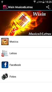Wisin Musica&Letras - screenshot