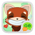 (FREE) GO SMS RED FOX STICKER APK for Bluestacks
