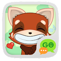 (FREE) GO SMS RED FOX STICKER For PC (Windows And Mac)