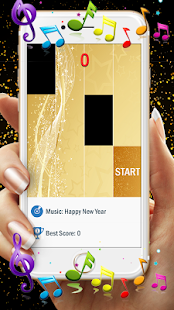 Piano Gold Tiles APK for Bluestacks