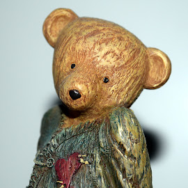 Shy Teddy by Deborah Lucia - Artistic Objects Other Objects ( figurine, teddy )