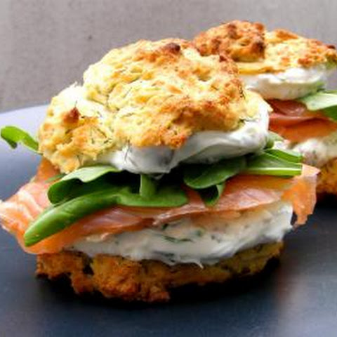 Biscuits With Salmon And Cream Cheese