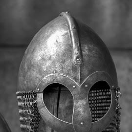 A viking warrior helmet by Photograph Andersen - Digital Art Things ( viking, photo-andersen.dk, ribe, ribe vikinge center, helmet, vikinge center,  )