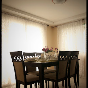 by Reagan Estrella - Buildings & Architecture Homes ( dinner, tables, chairs, food, family )