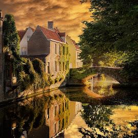 Bruges by Nick Moulds - City,  Street & Park  Historic Districts ( bruges, brugge,  )