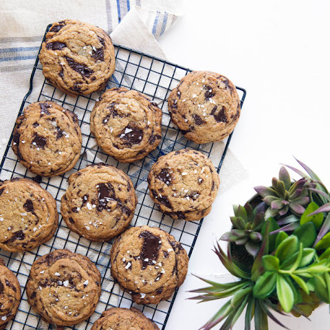 Sea Salted Olive Oil Chocolate Chip Cookies