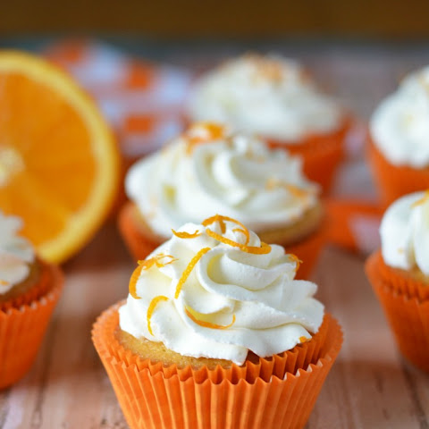 ORANGE YOU GLAD YOU HAVE ORANGE CREAM FILLED CUPCAKES?
