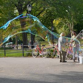 The Bubble Man by Rob Kovacs - City,  Street & Park  City Parks