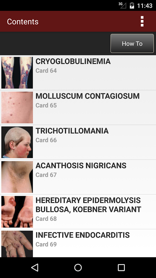 Fitzpatrick's Derm Flash Cards Screenshot 1