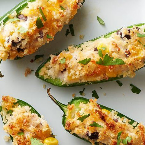 Black Bean and Corn Jalapeño Poppers