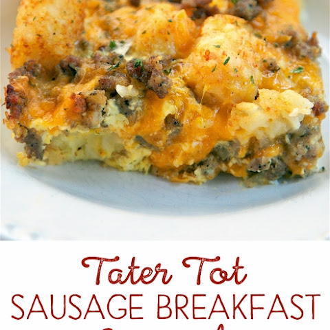 Tater Tot Sausage Breakfast Casserole