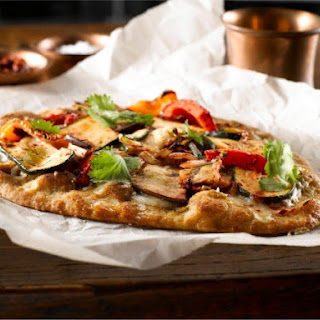 Grilled Veggie and Pesto Naan Pizza