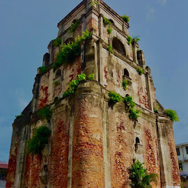 The Sinking Bell Tower  by Rosafe Soliven - Buildings & Architecture Decaying & Abandoned