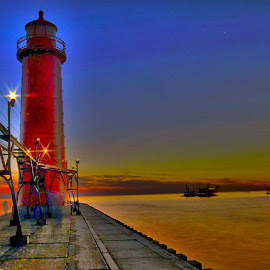 Light house by Rajeev Krishnan - Buildings & Architecture Public & Historical ( shore, lighthouse, architecture, beach, light )