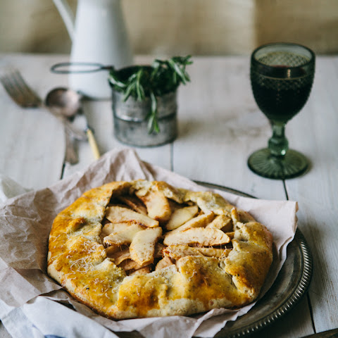 Onion and Apple Galette