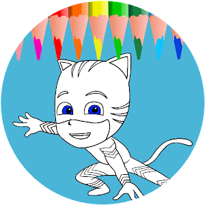 PJ color Masks coloring book