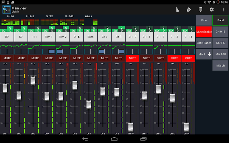 android Mixing Station Qu Pro Screenshot 3