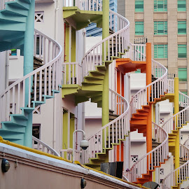 Spiral Staircases by Koh Chip Whye - Buildings & Architecture Other Exteriors (  )