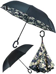 Зонт обратный, зеленый