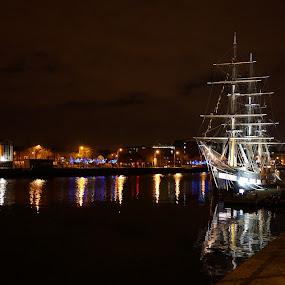 The Ship by Elena Lashneva - City,  Street & Park  Night