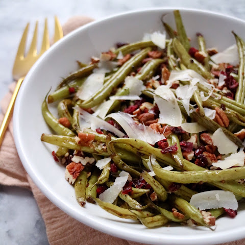 Green Beans with Pecans, Cranberries, & Parmesan