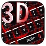 3D Red Black Keyboard Theme Icon