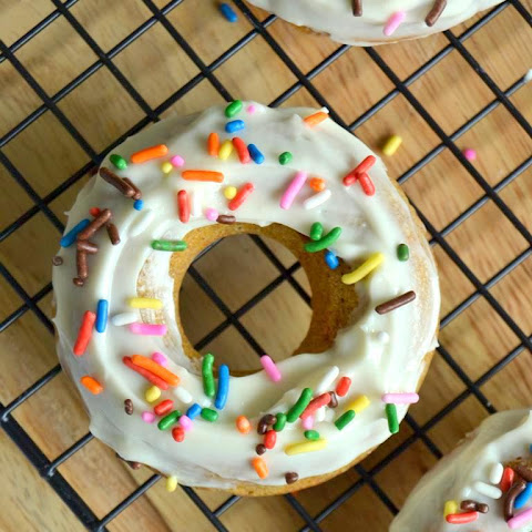 Rum Spiked Carrot Cake Doughnuts