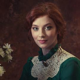 *** by Valentyn Kolesnyk - People Portraits of Women ( look, natural light, woman, classic, portrait )