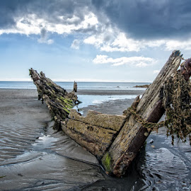 Old Wreck by John McCullough - Artistic Objects Other Objects ( co. down, portavogie, sea, seascape, boat )