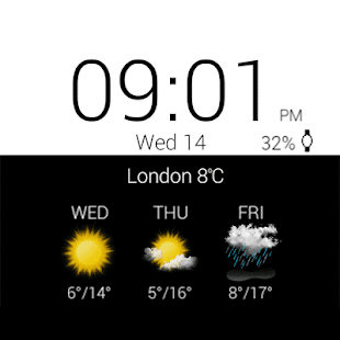 Transparent Clock & Wetter Pro Screenshot