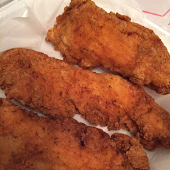 Renee's new chicken tender batter. I am so extremely happy. They are delicious!!!!!!! I just can't get enough.