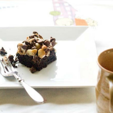 Brownies with stuffs on top (adapted very slightly from Food Network Magazine)