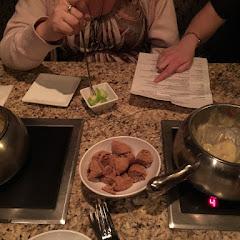 GF bread and yummy cheese fondue