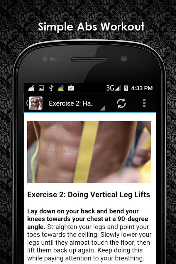 Abs Workout For Men Offline Screenshot