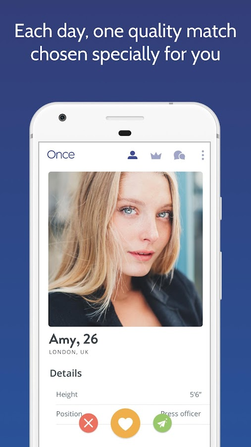 Once - the Slow Dating App Screenshot
