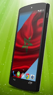 Moroccan Flag Live Wallpaper - screenshot