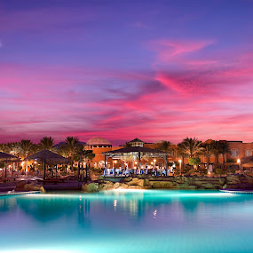 Carebean soma bay world resort sunset by Marko Gilevski - Buildings & Architecture Office Buildings & Hotels ( desert, colorful, exsotic, sunset, beautiful, hurghada, egypt )